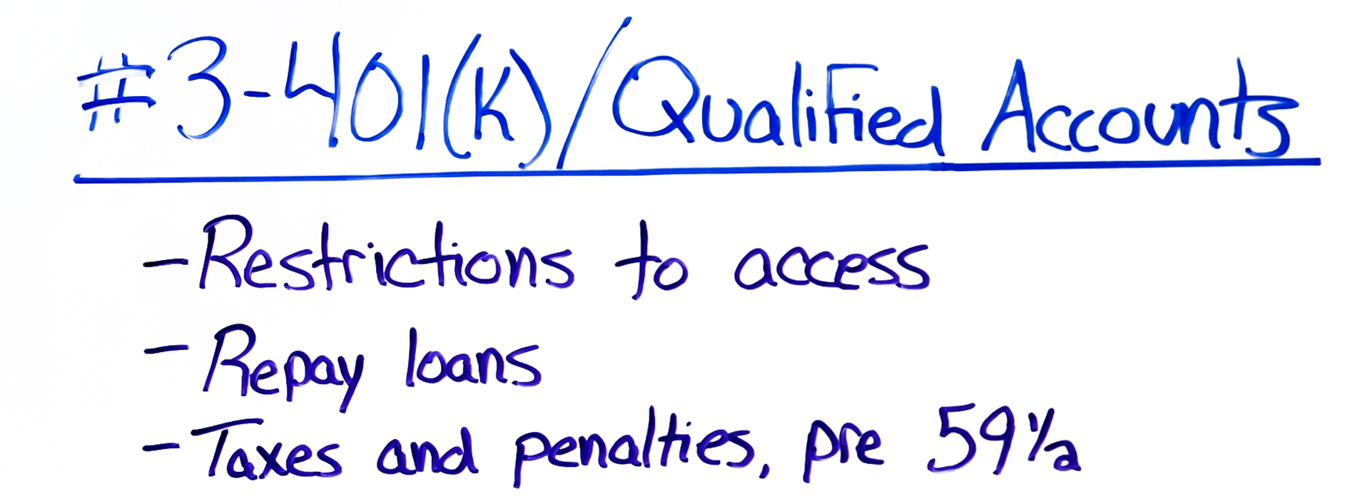 401(K)/Qualified Accounts