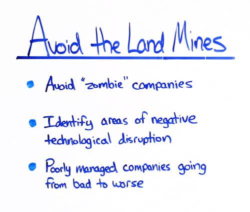 avoid the land mines