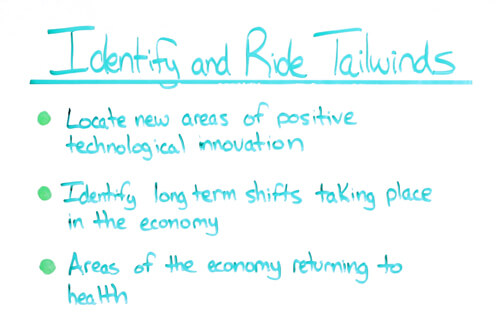 identify and ride tailwinds