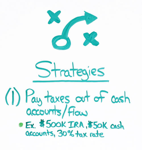 roth conversion pay taxes out of cash accounts strategy