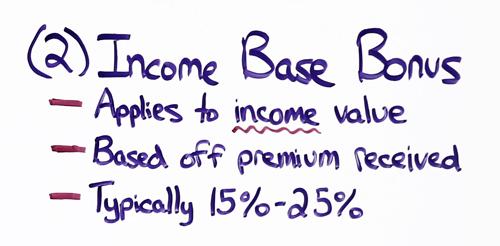 annuity income base bonus