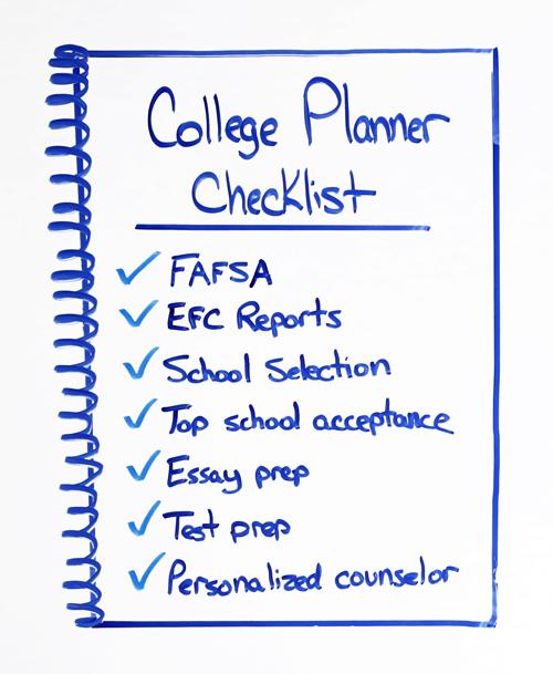 college planner checklist