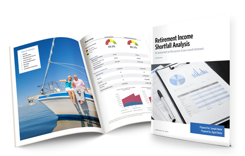 retirement income shorfall analysis