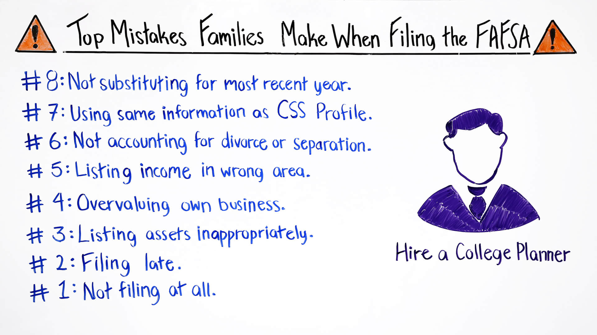 top mistakes families make when filing the fafsa
