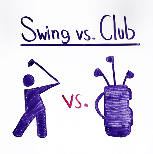 swing vs club